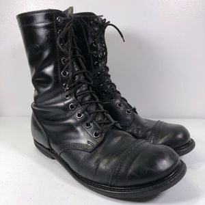 Other - Military Leather Cap Paratrooper Jump Boots USA
